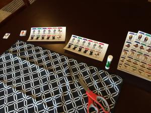 Printed pawns.